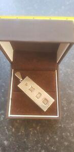 1 oz Sterling silver ingot pendant