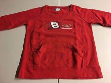 DALE EARNHARDT JR #8 BUDWEISER NASCAR SWEATER SWEATSHIRT RED CHASE WOMENS MEDIUM