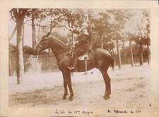 LIBOURNE ? PHOTO GF 15° DRAGON COLONEL DE VILLENEUVE DE VITRé VERS 1890 / 1900
