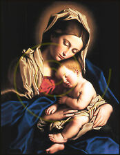 Mary/Madonna and Jesus/Christ/Vintage/Painting/Poster/Religious 17x22 in
