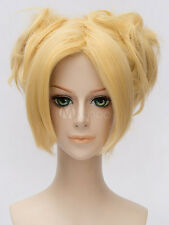 Naruto Shippuuden Temari Halloween Blonde Cosplay Party Wig Hair