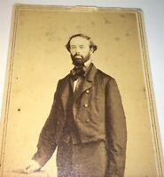 Rare Antique American Civil War Fashion ID'd Man! Bogardus, New York CDV Photo!