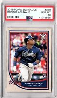 2018 Topps Big League #369 RONALD ACUNA Rookie PSA GEM MINT 10