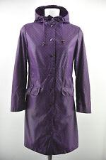 NOA NOA Womens Raincoat Purple Long Spotted Jacket Viscose Cotton Size S