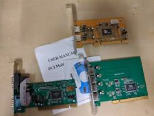 Lot of 3 PCI I/O Cards, USB Controller Cards, RS-232 Serial Controller Card SIIG