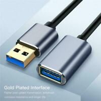 Extension USB Cable USB 3.0 2.0 Male to Female Data Extender Cable Cord Syn  HOT