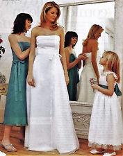 Beautiful STRAPLESS WEDDING EVENING DRESS Prima Sewing Pattern 10 12 14 16 18 20