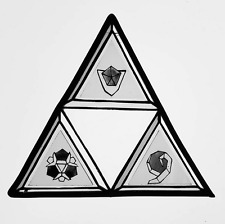 stained glass zelda triforce
