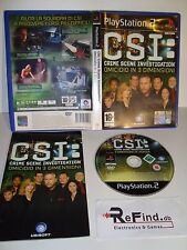 C.S.I. CRIME SCENE INVESTIGATIONS : OMICIDIO IN 3D PS2 SONY PLAYSTATION 2