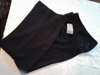 CABI PAY DAY 811 CITY PANTS BLACK 100% POLYESTER WOMENS 10L NWT $108