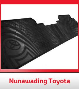 GENUINE TOYOTA KLUGER ALL WEATHER RUBBER 2ND ROW FLOOR MATS PZQ2048151