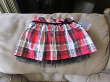 SONOMA HOLIDAY CHRISTMAS TODDLER GIRLS SKORT RED,BLACK,SILVER PLAID SIZE 4T NWT