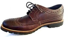 Rockport Mens Shoes Size 8 Craydn Wingtip Brown Leather Oxford tie V74227 EU 41