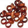 25pcs Wooden Finger Rings For Women & Men Wood Leopard Mixed Pattern Jewelry lot