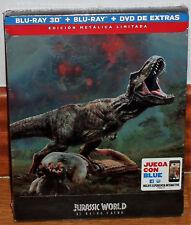 JURASSIC WORLD 2 EL REINO CAIDO STEELBOOK BR 3D+BLU-RAY+DVD NUEVO (SIN ABRIR) R2