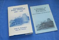 Wyoming Post Offices 1850-1980 Patera Gallagher BlueLakeStamps + Checklist!