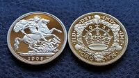 COLLECTABLE NOVELTY GIFT SET COMMEMORATIVE GOLD PLATED ROYALTY BULLION COINS
