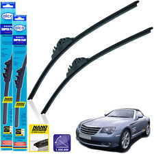 "Chrysler Crossfire Roadster 2004-2007 front wiper blades alca SUPER FLAT 22""20"""