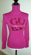 Guess hot pink sequinned ladies jumper Size S