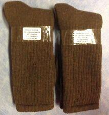 2pr Men's PREMIUM Merino Wool Boot Socks, Hiking/Trail/Work Socks LG 10-13 BROWN