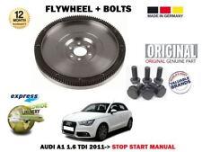 FOR AUDI A1 1.6 TDI STOP START MANUAL MODEL 2011-> NEW OE FLYWHEEL + BOLTS