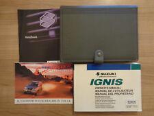 Suzuki Ignis Owners Handbook/Manual and Wallet 00-03
