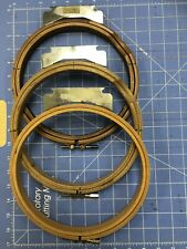 """3 melco embroidery hoops 8"""" WOOD CIRCLE"""