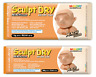 MUNGYO AIR DRY MODELLING CLAY IN WHITE, TERRACOTTA & PEACH COLOURS - 500g