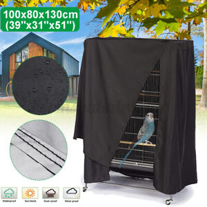 Large Bird Cage Cover Durable Lightweight Solid Parrot Sleep Helper Dust Black