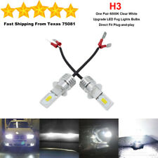 H3 LED Fog Driving Light Bulbs Kit Super Bright Premium Lamp 35W 6000K White