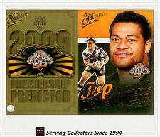 2009 NRL Classic Predictor + Top Tryscorer Card TT16 Taniela Tuiaki (Tigers)