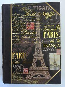 PUNCH STUDIO. Faux Book Box. Decoupage. Eiffel Tower. FRANCE. MED. STASH BOX.