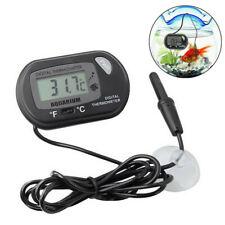 Black Digital Lcd Fish Tank Aquarium Marine Water Thermometer Temperature Meter'