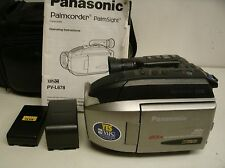 PANASONIC PALMCORDER PV-L678 VHS-C PalmSight VCR