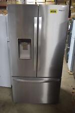 "Whirlpool Wrf954Cihz 36"" Stainless French Door Refrigerator Nob #23869 Mad"