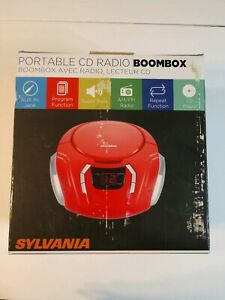 SYLVANIA Red Portable CD Radio BoomBox New