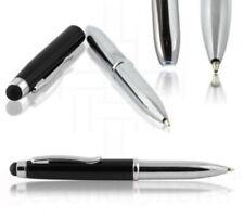 Three-In-One Press Stylus, Ink Pen, Led Light Trio,Multi-Function. Metal W/Case