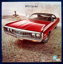 Prestige Prospekt brochure 1971 Chrysler Imperial New Yorker Newport (USA)  NOS