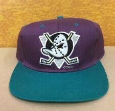 NHL Anaheim Mighty Ducks Vintage Snapback Cap Plum/Teal Front & Back Emblem NWT