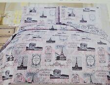 New Beacon Boulevard Paris Eiffel Tower Champ Elysees King Quilt & Shams 3Pc Set