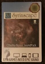 Syrinscape CTHULHU BONUS SOUND PACK FREE RPG DAY 2017 Card w/Download Code
