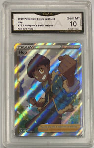 2020 Pokemon Champion's Path #73 Hop Full Art GMA 10 Gem Mint