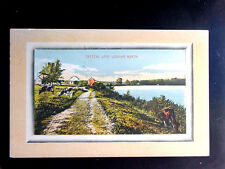 1914 Homes Crystal Lake looking North Fremont ? NY post card Sullivan County