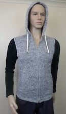 Indie & Co White Grey And Black Mens Zipped Hoodie Jacket - Size 14