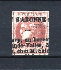 "FRANCE STAMP TIMBRE 40B "" BORDEAUX 2c"" OBLITERE ANNULATION TYPO JOURNAUX TB T235"