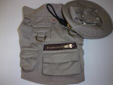 WOOLRICH Dog FISHING Hat Vest XS Khaki new puppy shirt jacket  xsmall halloween