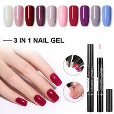 Elite99 One Step 3 in 1 Nail Polish UV Gel Brush Pen No Need Base Top Manicure