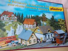 H0 Gebäude Bausatz Bahnhof Stellwerk Fachwerkhaus Einfamilienhaus NEU in OVP