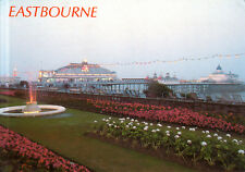 Inglaterra-East Sussex-eastbourne-carpet Gardens and The Pier at dusk - 1995