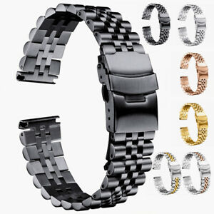 Solid Stainless Steel Jubilee Watch Strap Watch Band Bracelet 18-30mm Replace